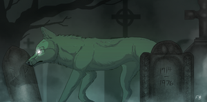 Ghost in the Graveyard by Lordfell