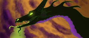 Maleficent Dragon by Lordfell