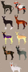 {OPEN-Points/Paypal} Deer Adopts by Lordfell