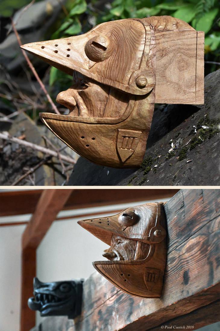 Knightbird - catalpa woodcarving by nightserpent