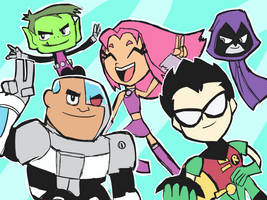 Teen Titans GO! Doodle by RamyunKing