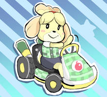 Isabelle: Animal Crossing - Mario Kart by RamyunKing