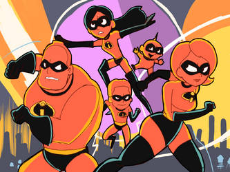 The Incredibles 2 by RamyunKing
