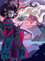 Onmyoji: Fan Art Entry - Hone Onna by RamyunKing