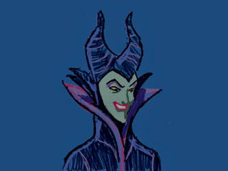 Maleficent (Art Academy 3DS) Part 26 by RamyunKing