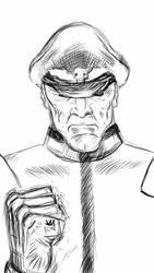 M.Bison Note3 sketch by MARSVISION