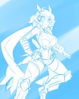 #2 Hibiki Tachibana (Symphogear GX) by DesertFoxKatbox