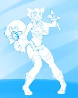 #11 Makoto Nanaya (BlazBlue) by DesertFoxKatbox
