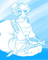 #13 Momohime (Muramasa Demon Blade) by DesertFoxKatbox