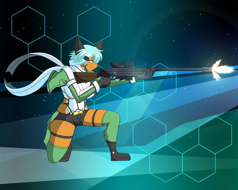 #24 Sinon (Sword Art Online II) FUNDED! by DesertFoxKatbox