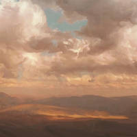 Happy Clouds n Fields WIP by allisonchinart