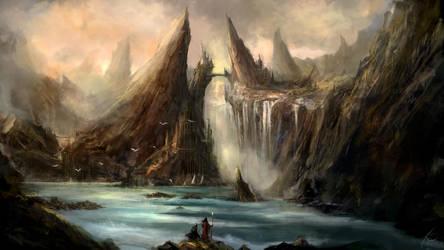 Somewhere between strange mountains by MarioTeodosio