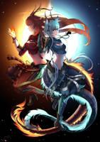 Commission for Thorai Jandra and Jindra by KuroHana-dono