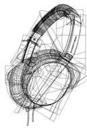 Headphones wireframe by Atebitninja
