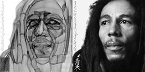 Bob Marley - Vector Wireframe by Atebitninja