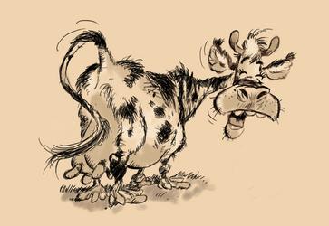 Franquin cow (study) by tBenjaminLarsen