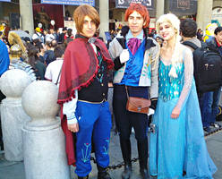 Frozen cosplay - Anno, Hans and Elsa by Lynus-the-Porcupine