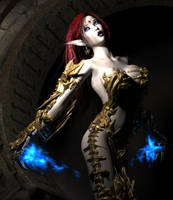 Sexy Fantasy Vamp Elfen as Witchblade 001 by Evinessa