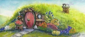 Hobbit Hole- A Happy Birthday To Professor Tolkien by lunatteo