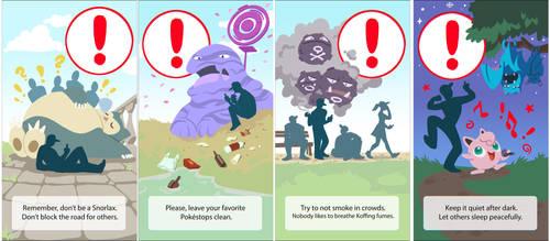 Pokemon Go warnings by MagdaPROski
