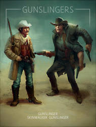 Artstation Wild West challenge Gunslingers closeup by MagdaPROski