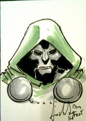 Dr.doom Sketchcard by Dreamerwstcoast