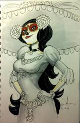 Sketch 91: La Muerte by Dreamerwstcoast