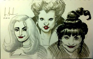 Sketch 92: Sanderson Sisters by Dreamerwstcoast