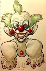 Sketch 93: Killer Clown by Dreamerwstcoast