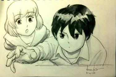 Sketch 95: Tonari by Dreamerwstcoast