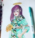 Fashion and sunflowers  by credocross