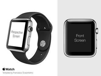 Apple Watch mockup by freebiespsd