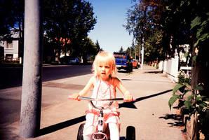 Birta on her bike 2 by olith
