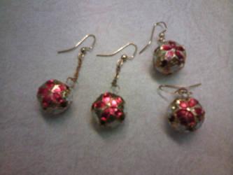 Pointsettia Christmas earrings by gingerbered