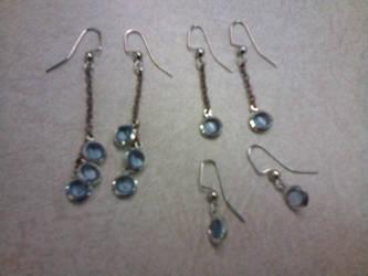 Blue glass earrings by gingerbered