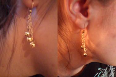 Bell Earrings ascending by gingerbered