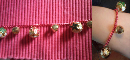 Christmas charm bracelet one by gingerbered
