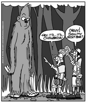 Bigfoot Chewbacca by WanyheadPress