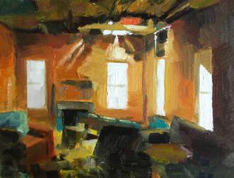 Tangerine Living Room by seneschal