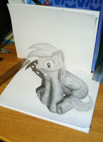 3D Anamorphic Derpy by Recreate4Life