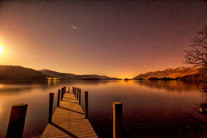 2.55 AM Shooting Star Derwentwater by Capturing-the-Light