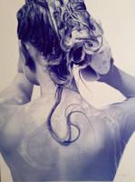 Holographie 01 - Ballpoint pen artwork by LopezLorenzana