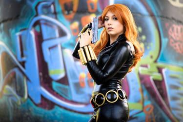 Black Widow cosplay 1 by AmuChiiBunny
