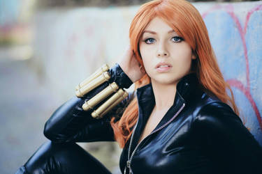 Black Widow cosplay 3 by AmuChiiBunny