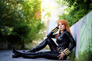 Black Widow cosplay 4 by AmuChiiBunny