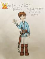 (VT) Jordan Minecraft Villager Outfit/Ref. Sheet by FallenShadow95