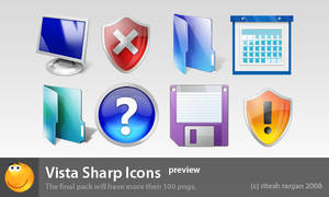 vista sharp icons preview by 24charlie