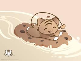 Kawaii Cookie Surfing Desktop by lafhaha