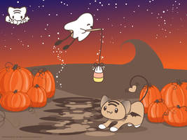 Halloween Fishin' Wallpaper by lafhaha
