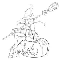 Halloween 2012 Lineart by MartaValentin